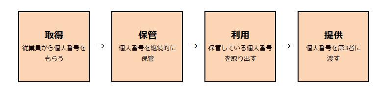 マイナンバーの作業サイクル画像